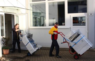 LIFTKAR stairclimbers for transport up to 360 kg like copiers