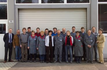 Extends production workshop - total area: 2,350 m², number of employees: 17