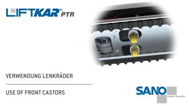 LIFTKAR PTR tracked stairclimber - use of front castors