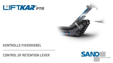 LIFTKAR PTR tracked stairclimber - control of retention lever