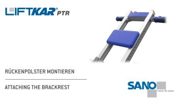 LIFTKAR PTR tracked stairclimber - attaching the backrest