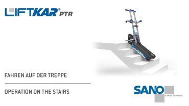 LIFTKAR PTR tracked stairclimber - operating on the stairs