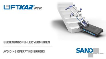 LIFTKAR PTR tracked stairclimber - avoiding operating errors