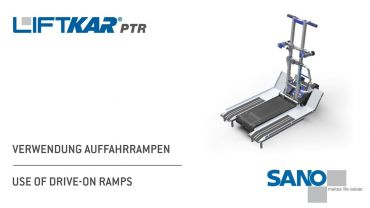 LIFTKAR PTR tracked stairclimber - use of drive-on ramps